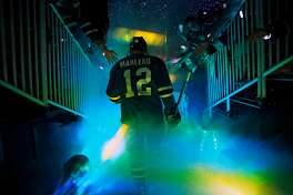 San Jose Sharks' Patrick Marleau takes to the ice before Sharks play St. Louis Blues in Game 6 of NHL Playoffs' Western Conference Finals at SAP Center in San Jose, Calif.,on Wednesday, May 25, 2016.