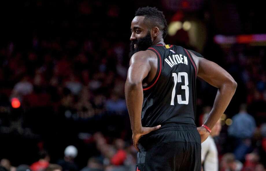 James Harden said he could not say the Warriors are what he expected, only assuming from their 16-2 record that they excel. Photo: Craig Mitchelldyer, Associated Press / FR170751 AP