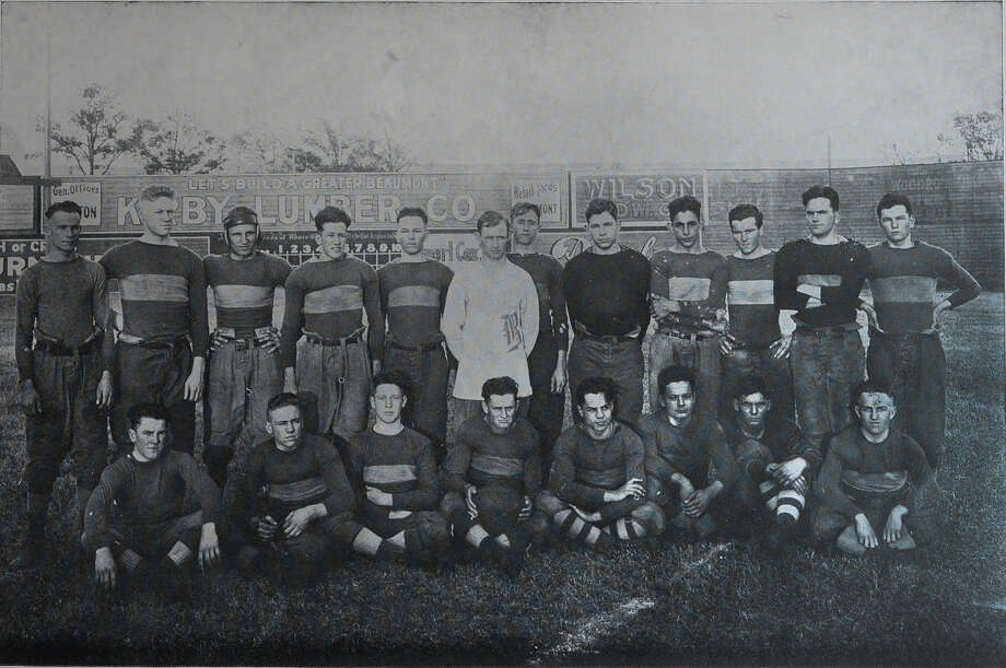 The 1916-17 Beaumont High School football team is the city's first team to unofficially win a state championship title. Image provided by the Tyrrell Historical Library Photo: Guiseppe Barranco, Photo Editor