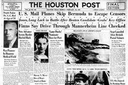 The Houston Post front page (HISTORIC) November 11, 1914 - section A, page 1 - Death Takes Dr. S. C. Red