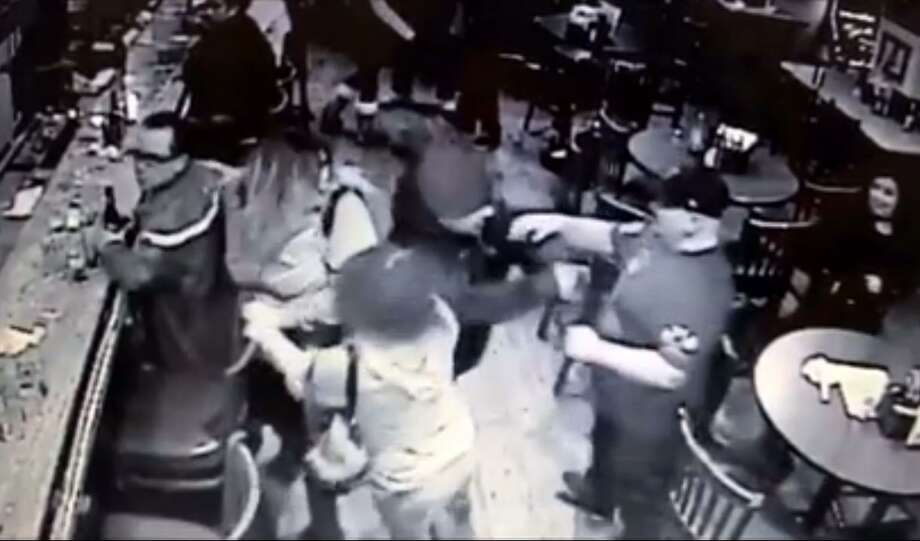 Security video inside a Benicia bar shows a gunman confronting patrons before opening fire in an attack that wounded two. Photo: Benicia Police Department / /