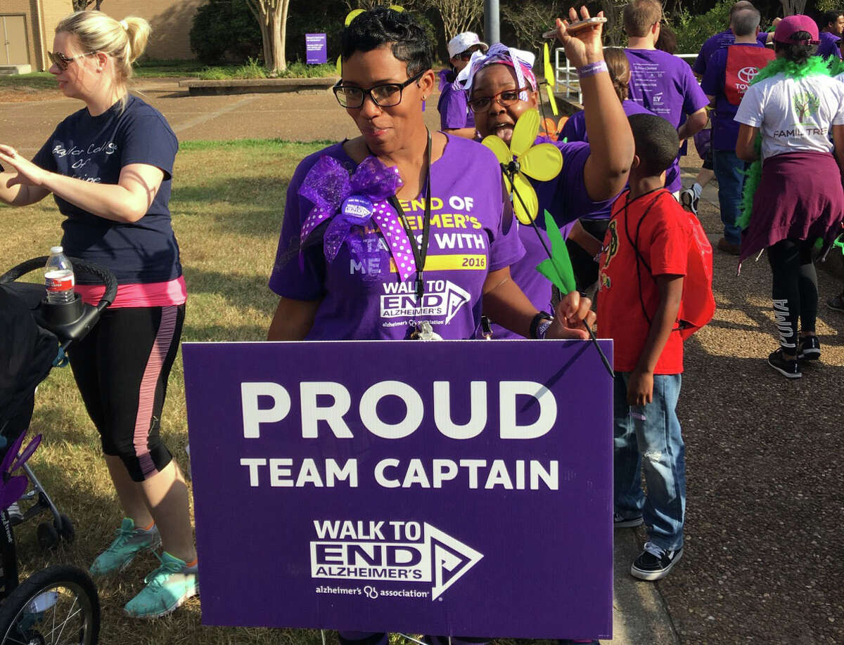 Isle at Kingwood office manager Toni Windfont is team captain ofKingwood Strong, the Isle at Kingwood's team for the 2016Houston Walk to End Alzheimer�'s Nov. 5.