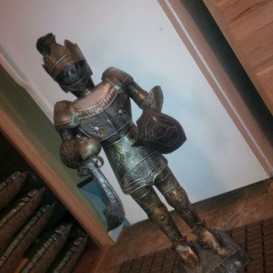 "Vintage knight of armor - $100.From the listing: ""Great for man cave!!!"" See the listing. Photo: ."