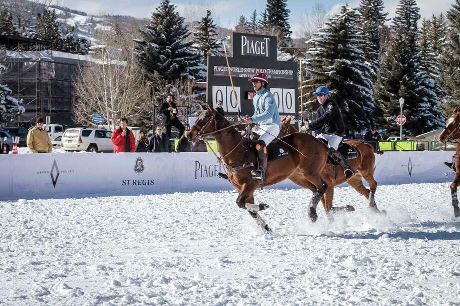St. Regis World Snow Polo Championships takes place in Aspen, Colo. Photo: St. Regis Aspen Resort, Photographer / © Nick Tininenko