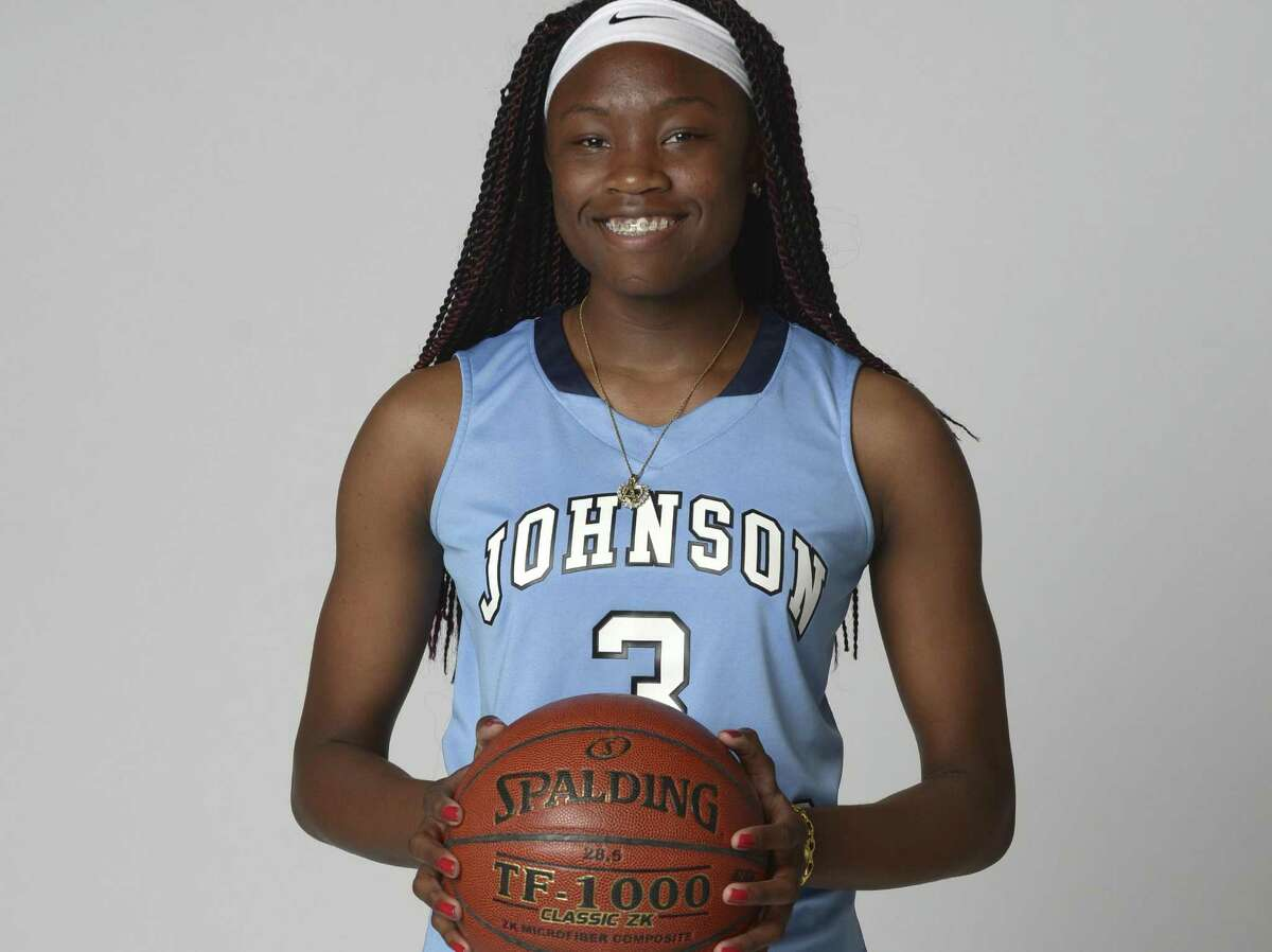 Alyssa Adams of Johnson poses for the 2016 Express-News All-Area Super Team photo shoot.
