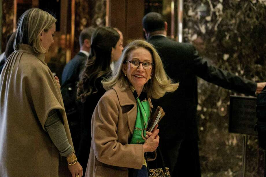 Kathleen Hartnett White met with President-elect Donald Trump on Monday to discuss a Cabinet post. Since leaving the Texas Commission on Environmental Quality in 2007, she has made her name as a critic of climate change policy. Photo: SAM HODGSON, STR / NYTNS