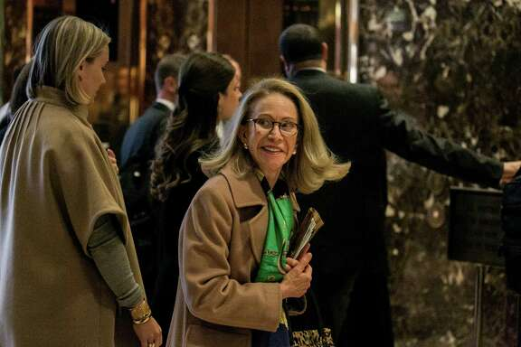 Kathleen Hartnett White met with President-elect Donald Trump on Monday to discuss a Cabinet post. Since leaving the Texas Commission on Environmental Quality in 2007, she has made her name as a critic of climate change policy.