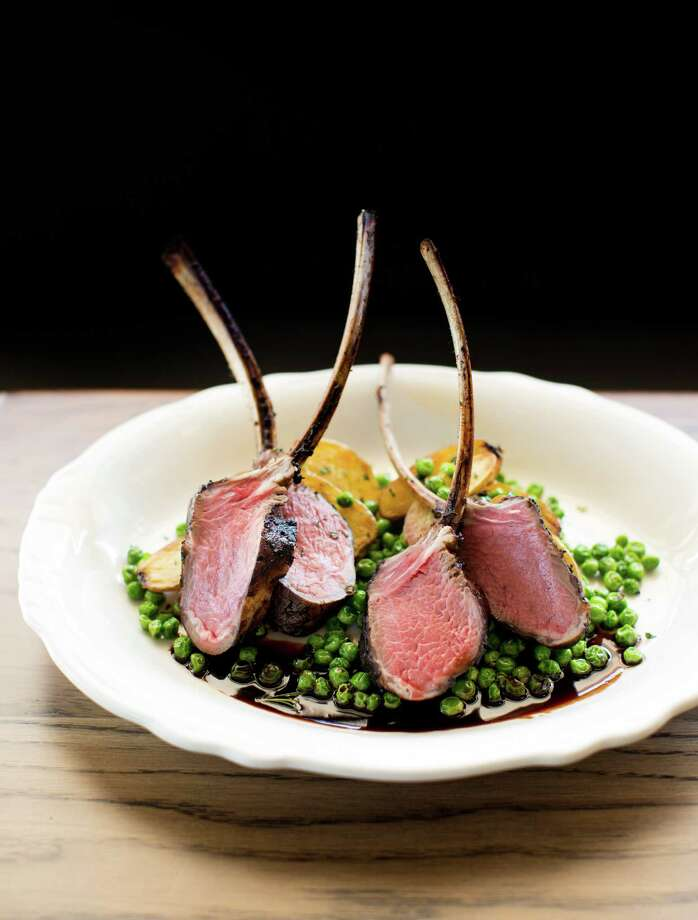 Relish serves lamb chops with roasted fingerling potatoes and fresh herbed peas. Photo: Julie Soefer