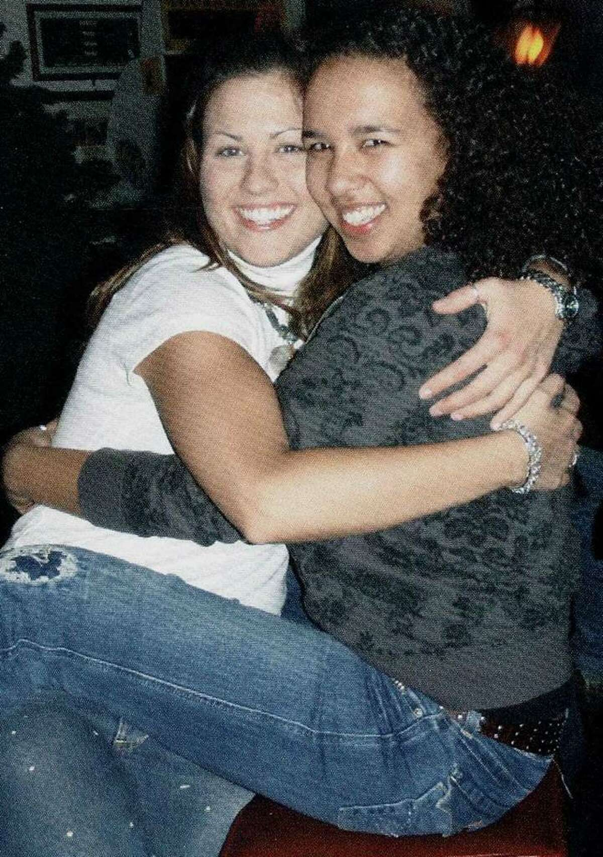 Rebecca Payne, right, of New Milford, died May 20, 2008 in Boston in an as yet unsolved homicide. Payne is shown with friend Lauren Ziaks. Courtesy of the Payne family