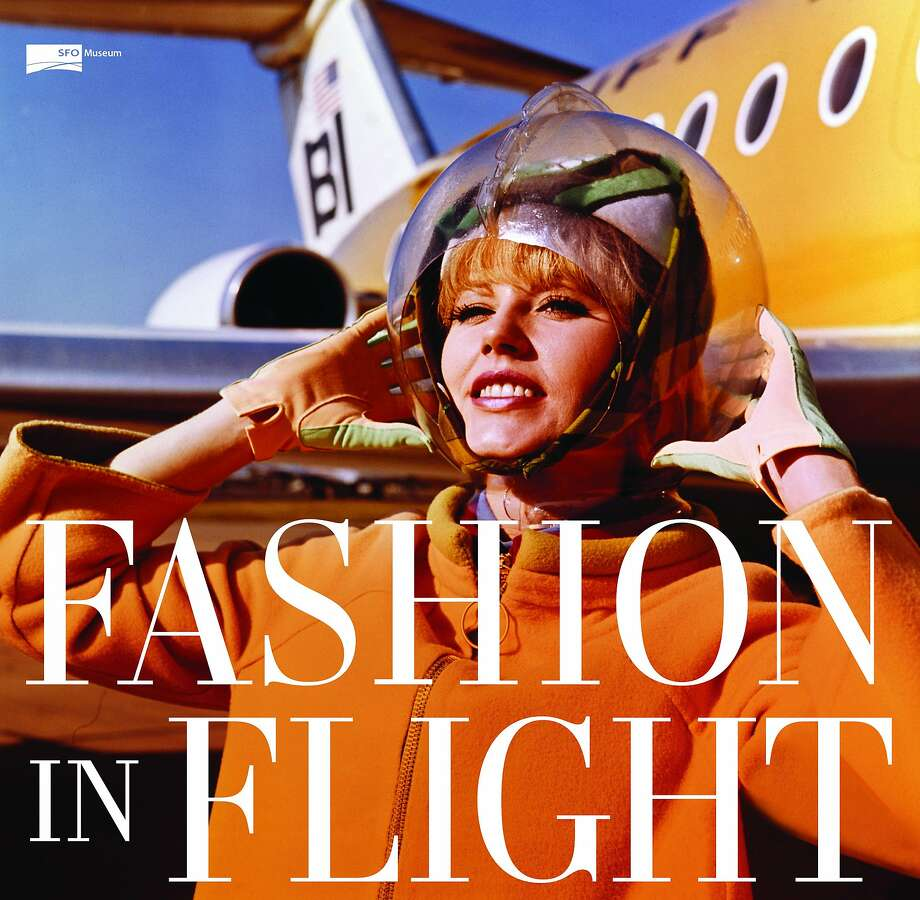 "The SFO Museum's ""Fashion in Flight: A History of Airline Uniform Design,"" features 70 ensembles worn by female flight attendants between 1930 and 2014. Pictured is a Braniff International Airways hostess in an Emilio Pucci uniform. Photo: Courtesy SFO Museum"