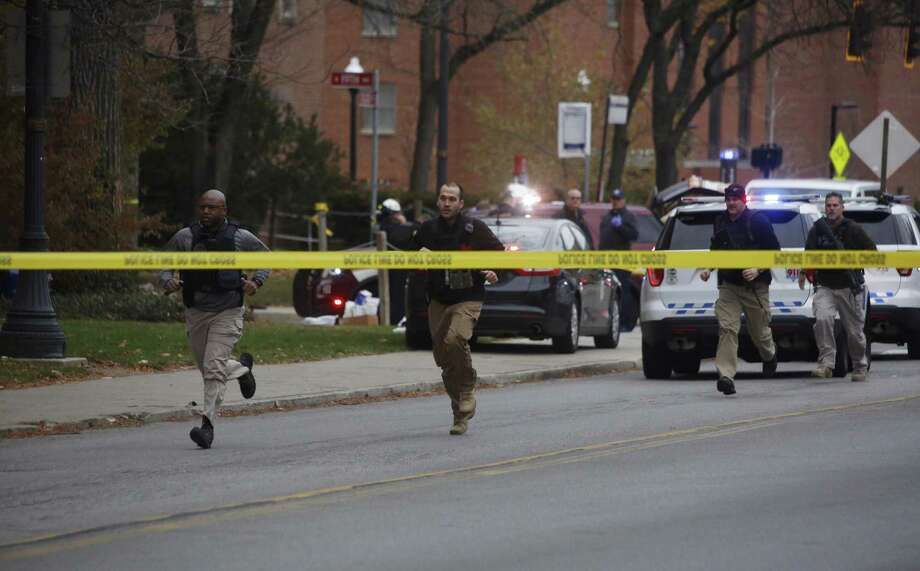 Police respond to reports of an attack on campus at Ohio State University on Monday, Nov. 28, 2016, in Columbus, Ohio. Photo: Tom Dodge /The Columbus Dispatch Via AP / The Columbus Dispatch