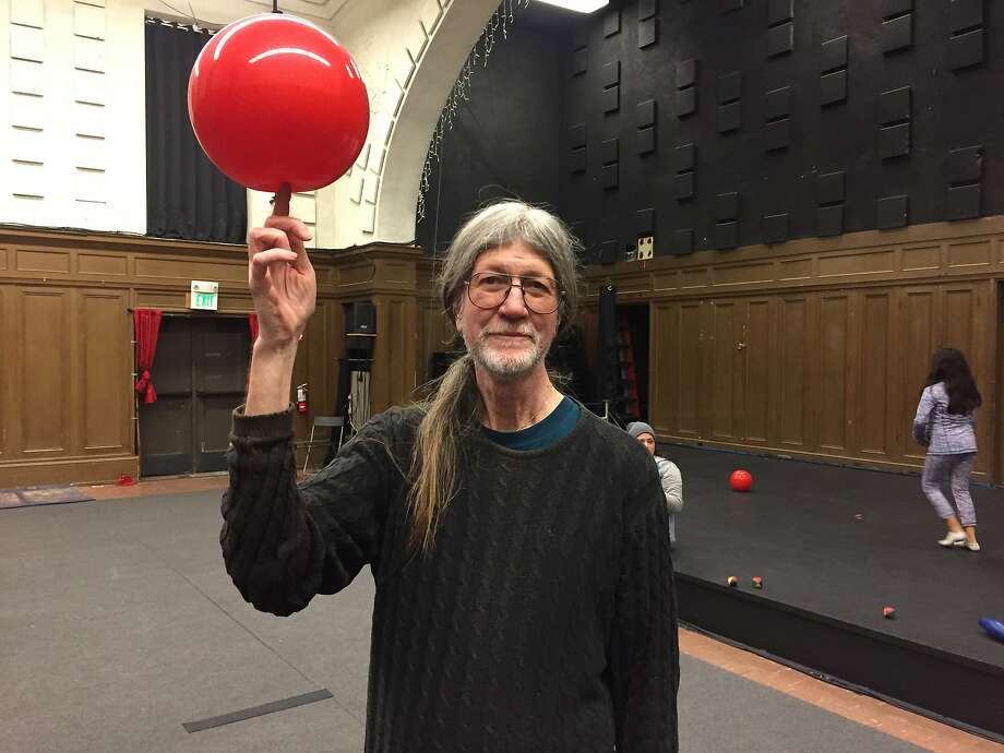 Jade Ford leads the Juggling Club at the Circus Center in San Francisco every Sunday. Photo: Beth Spotswood