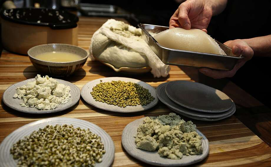 Chef Nick Balla makes sprouted mung bean noodles at Motze. Photo: Liz Hafalia, The Chronicle
