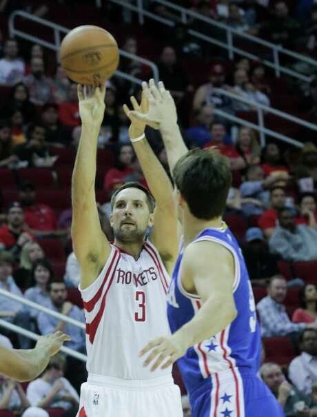 Ryan Anderson joins James Harden, Eric Gordon and Trevor Ariza as the Rockets players who have launched more than 100 3-pointers in the first 17 games. Photo: Elizabeth Conley, Staff / © 2016 Houston Chronicle