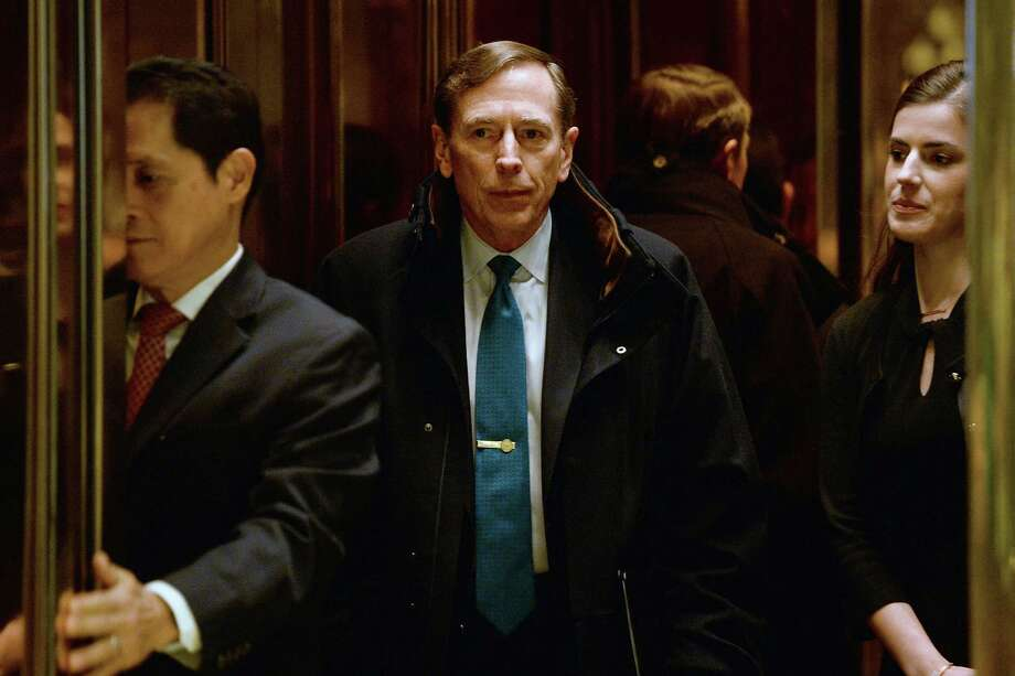 David Petraeus, former director of the CIA, met with President-elect Donald Trump on Monday in New York about the secretary of state cabinet post. Photo: Anthony Behar / © 2016 Bloomberg Finance LP