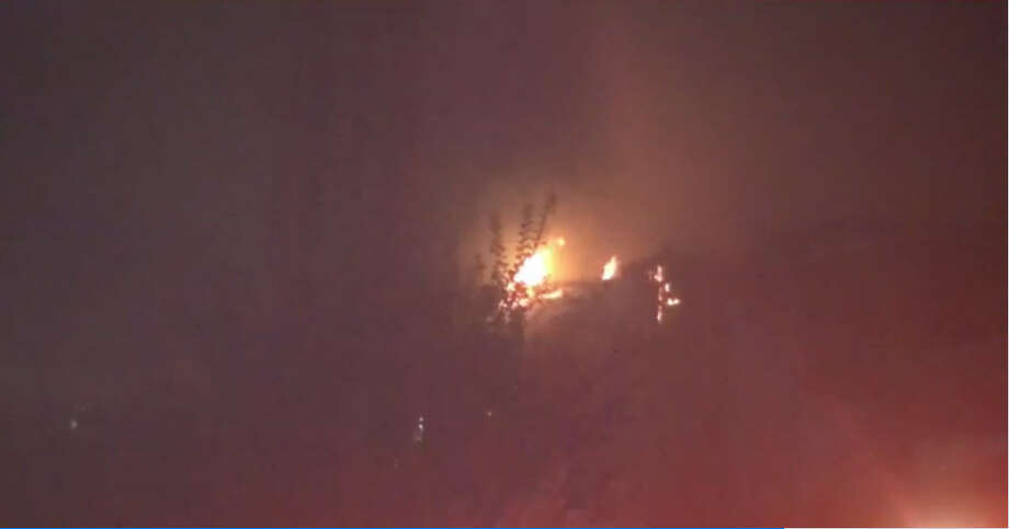 A 2-alarm fire about 3:20 a.m. Tuesday, Nov. 29, 2016, burned units at a condominium complex on Holly Hall near El Mundo in south Houston. (Metro Video)