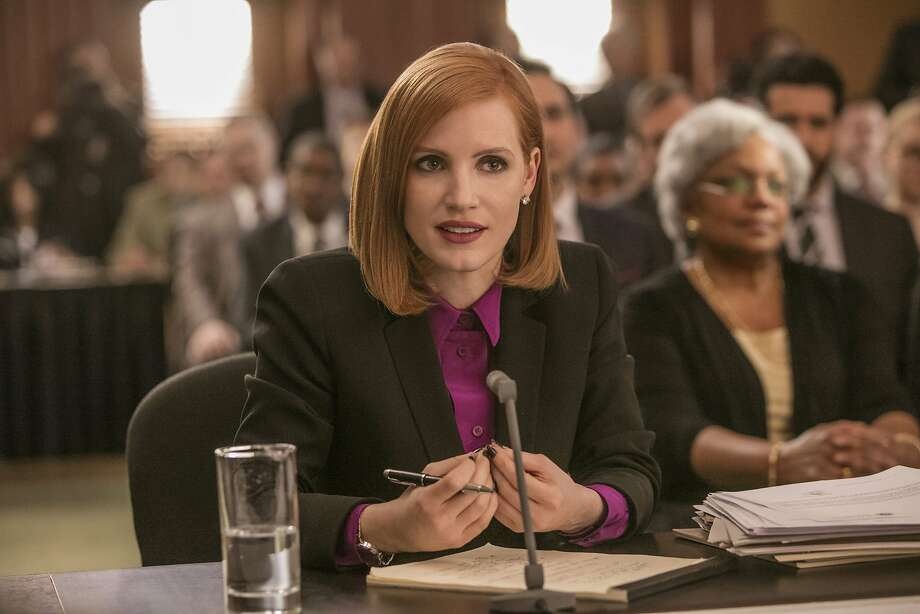 "In ""Miss Sloane,"" Jessica Chastain is a lobbyist always a few moves ahead of competitors. Photo: Kerry Hayes, Associated Press"