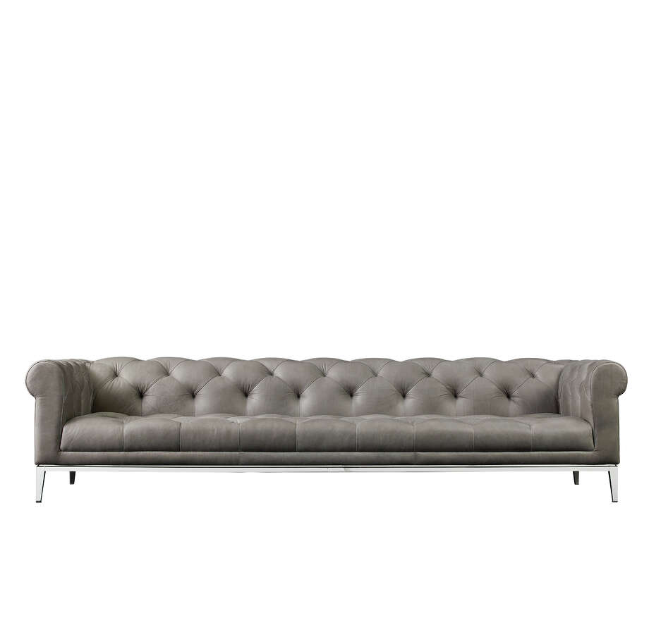 RH Modern's Italia Chesterfield sofa, $6495 and up. Photo: RH Modern