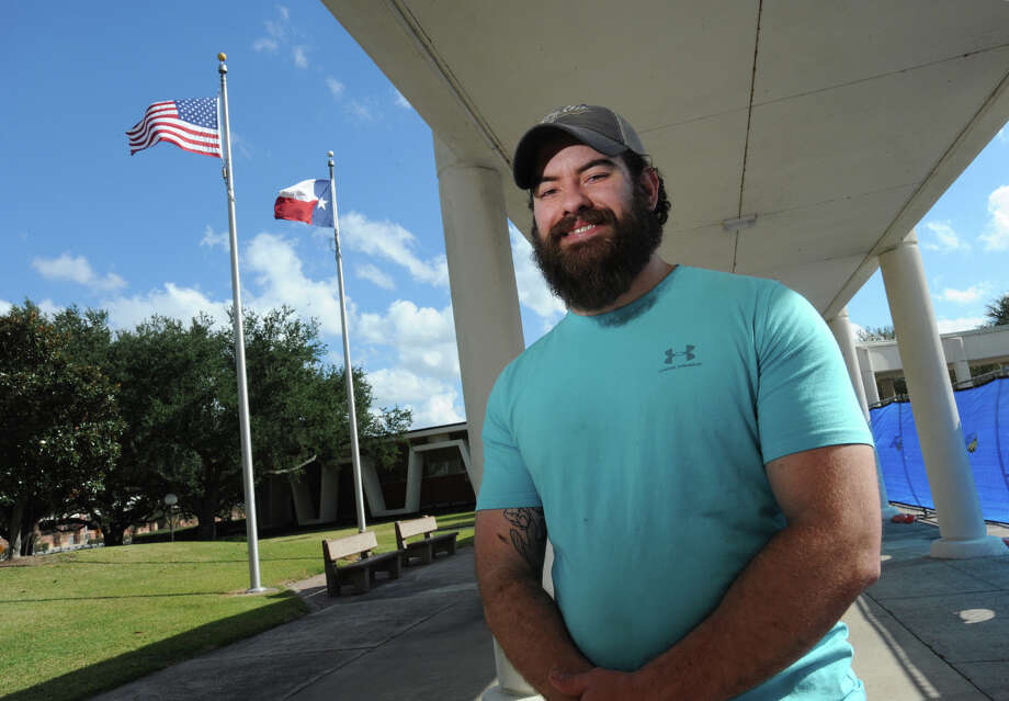 Levi Smith a U.S. Marine veteran works as an aid in the Veterans Affairs office at Lamar University.   Photo taken Thursday, November 17, 2016 Guiseppe Barranco/The Enterprise Photo: Guiseppe Barranco, Photo Editor