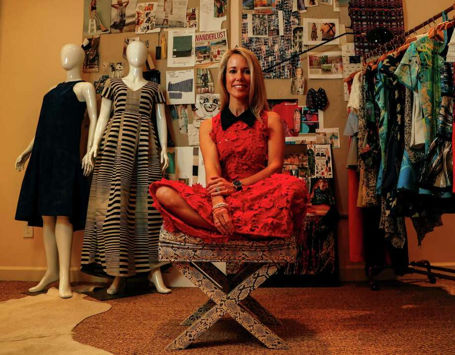 "Designer Hunter Bell, who won the second season of  NBC's fashion reality show ""Fashion Star,"" has relocated her company to Houston. Photo: Karen Warren, Staff Photographer / 2016 Houston Chronicle"