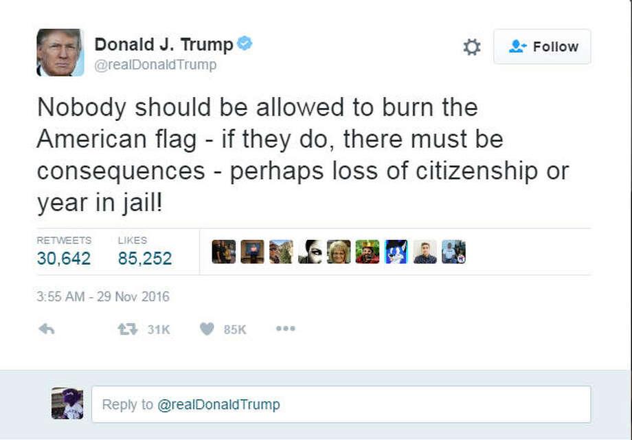 Flag burning Photo: Twitter