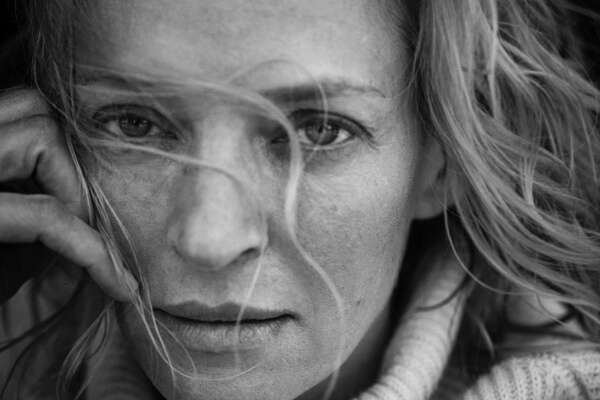 Uma Thurman poses for the 2017 Pirelli Calendar.