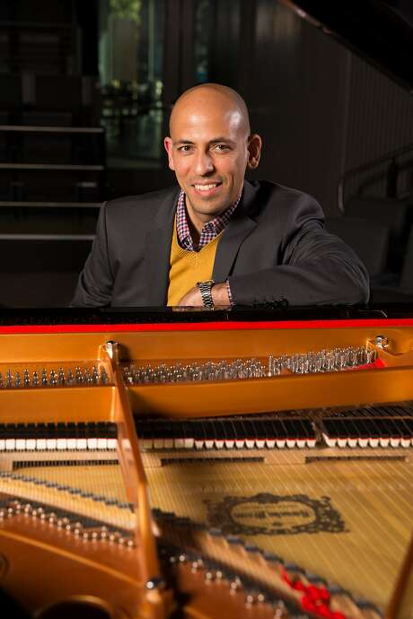 Venezuelan pianist and composer Edward Simon performs with Ensemble Venezuela at Yerba Buena Center for the Arts. Photo: Photo By Scott Chernis