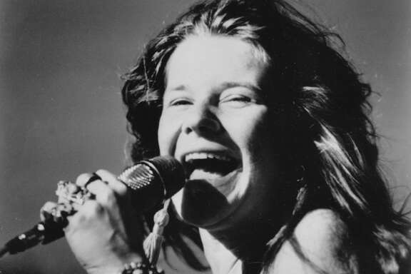 This is a 1969 photo of rock singer Janis Joplin.  (AP Photo)
