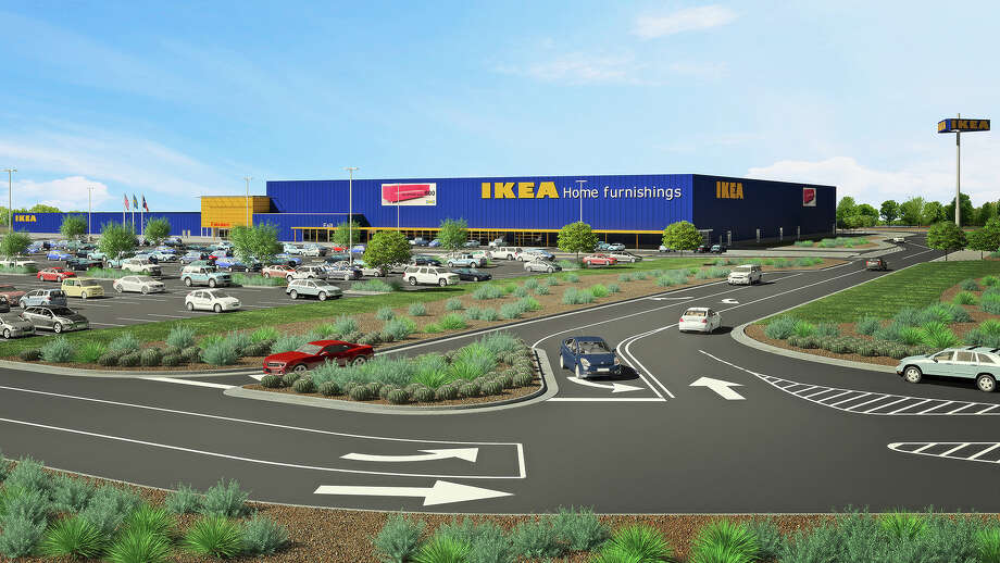 A rendering of the proposed290,000-square-foot Ikea store near the intersection of Loop 1604 and Interstate 35. The European furniture giant aims to break ground on the store in early 2018, the company said Tuesday. Photo: Courtesy/IKEA