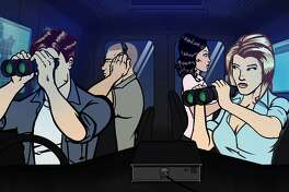 "Members of the ""Pacific Heat"" undercover team include Special Agent Todd Sommerville (left, voiced by Rob Sitch), Agent Zac (Santo Cilauro), Special Agent Veronica V.J. Delane (Lucia Mastrantone) and Spercial Agent Maggie Riggs (Rebecca Massey)"