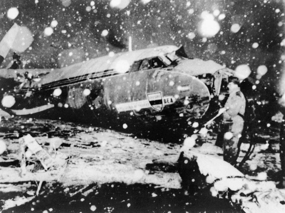 The 1958 Munich air disaster killed 23, including members of the Manchester United team and staff, when the team plane crashed attempting to take off from the slush-covered runway. It would take United 10 years to rebuild the club. Photo: AFP/AFP/Getty Images