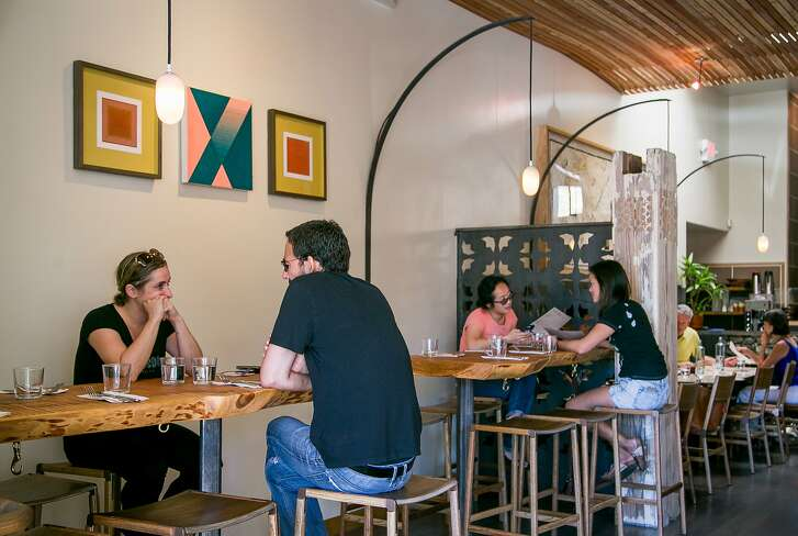Diners have brunch at Shakewell in Oakland, Calif. on Sunday, October 19th, 2014.