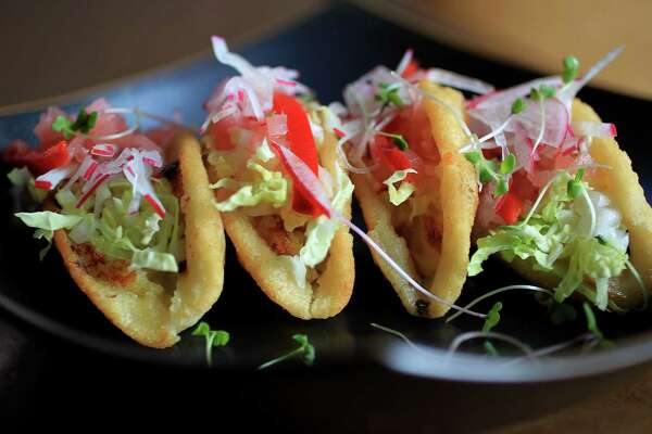The Tacos Dorados at Hugo's, Friday, Aug. 30, 2013, in Houston. Alison Cook's Top 100 restaurants for 2013.
