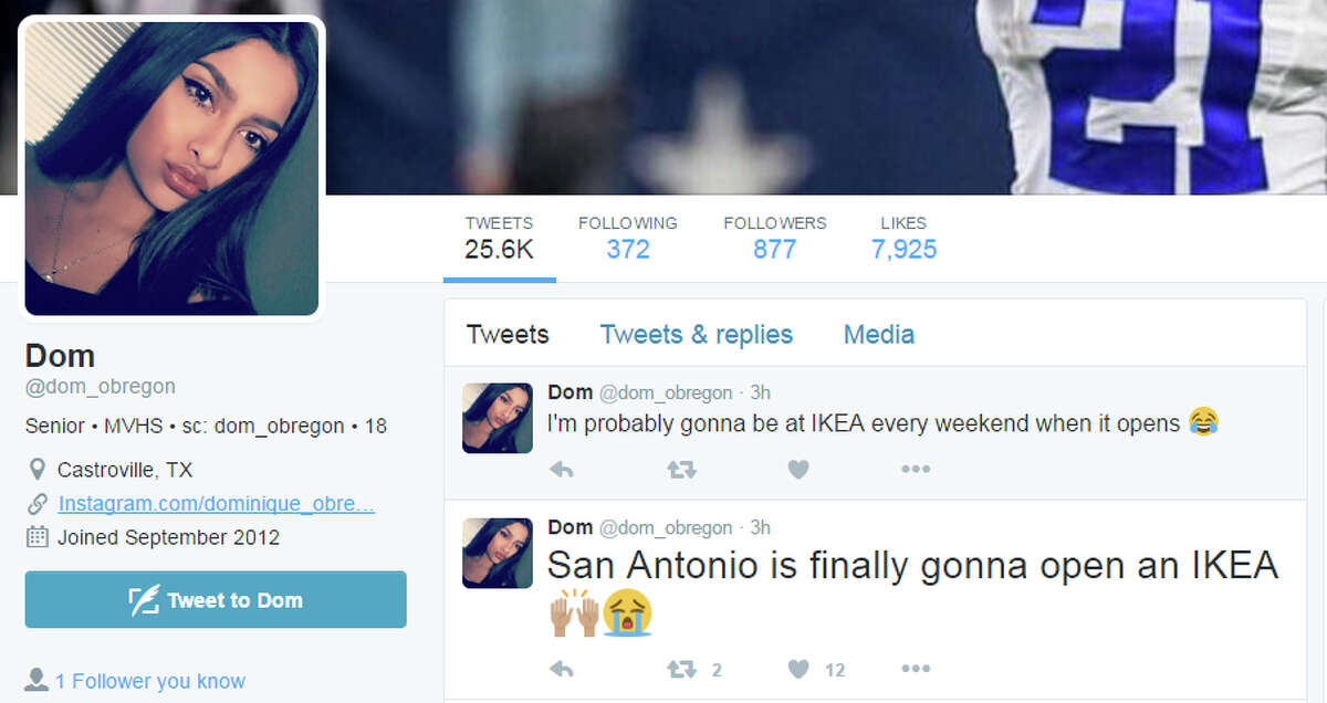 """Tweets: """"I'm probably gonna be at IKEA every weekend when it opens San Antonio is finally gonna open an IKEA"""""""