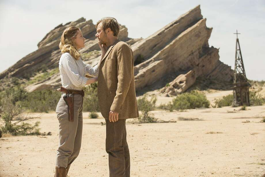 "Evan Rachel Wood and Jimmi Simpson in an episode of HBO's ""Westworld."" (John P. Johnson/HBO) Photo: John P. Johnson/HBO, TNS"
