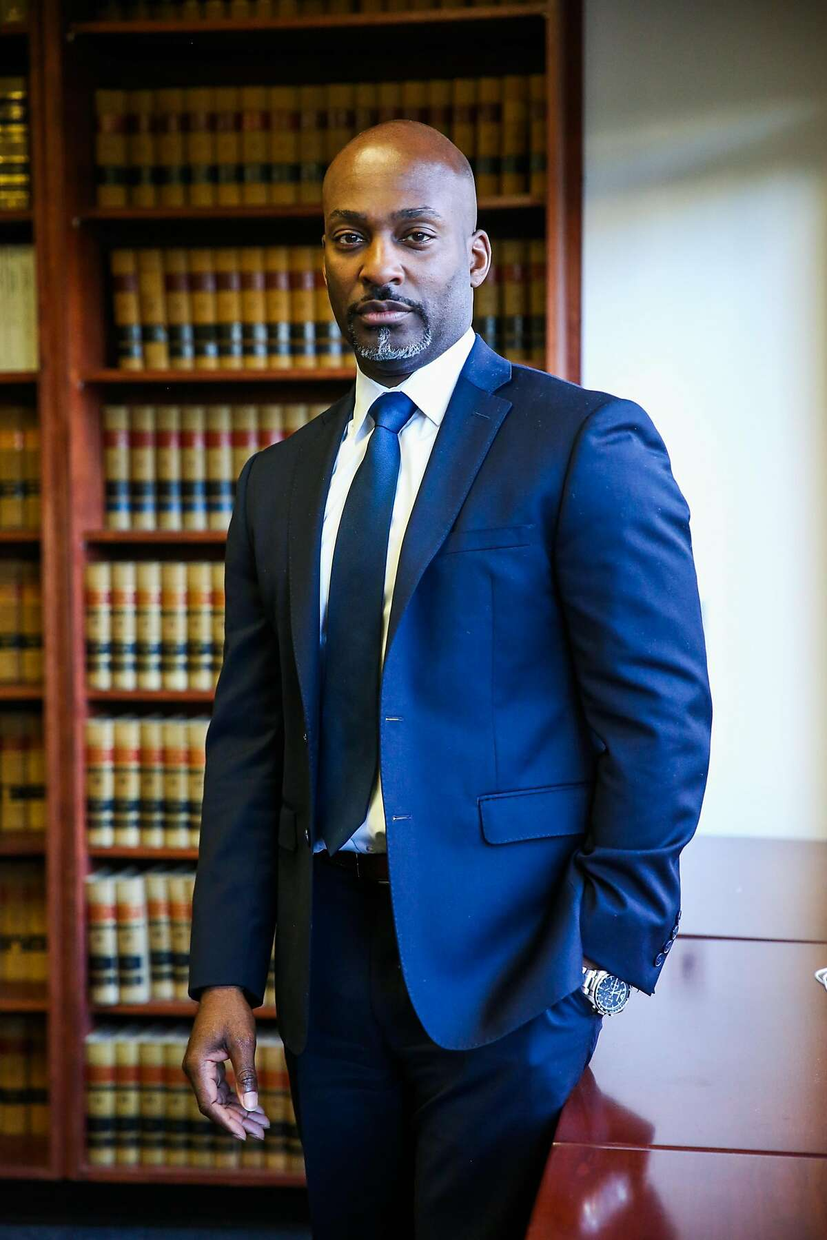 Alameda County Public Defender Brendon Woods stands for a portrait at theAlameda County Public Defender's office, in Oakland, California, on Tuesday, Nov. 29, 2016.
