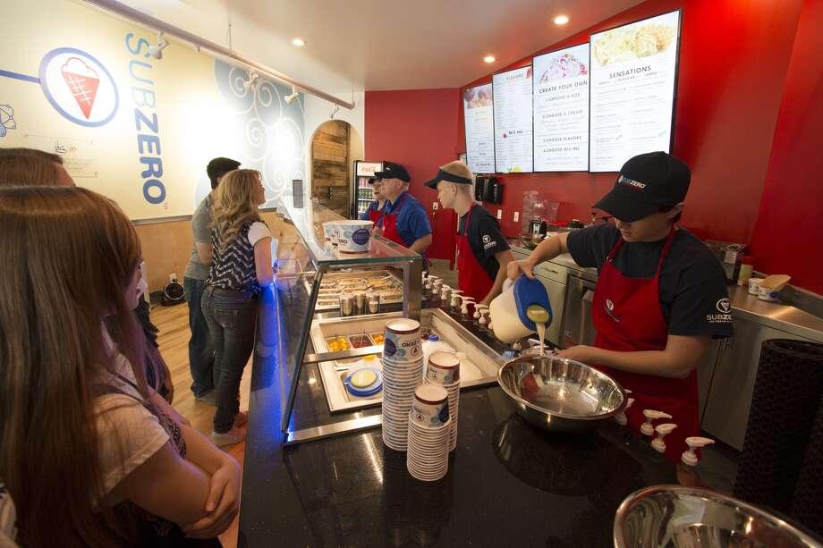 Sub Zero Ice Cream has six locations in the greater Houston area and plans more stores. Photo: Sub Zero Ice Cream