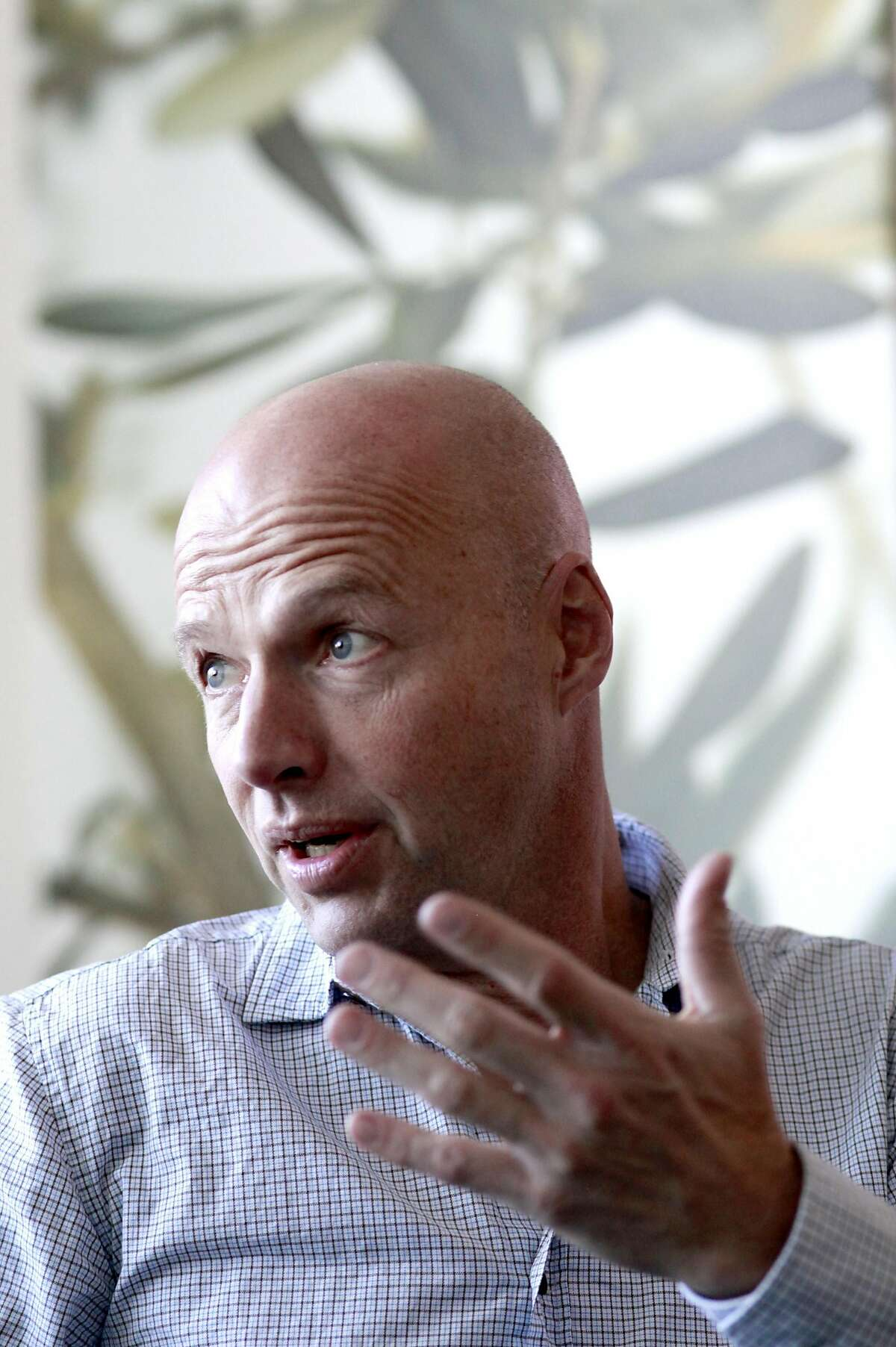 Sebastian Thrun, a pioneer of self-driving technology is the founder of Udacity an online learning company that offers nano degrees to prepare students for technology jobs, is seen at their headquarters in Mountain View,, California on Tuesday November 29, 2016.