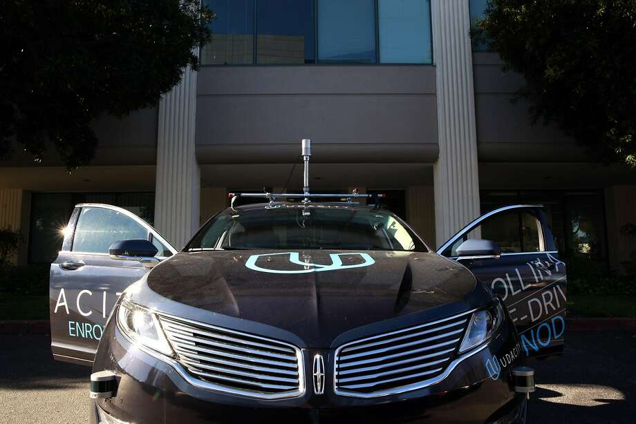 The Udacity self-driving car is seen at their headquarters in Mountain View, California on Tuesday November 29, 2016. Photo: Michael Macor, The Chronicle
