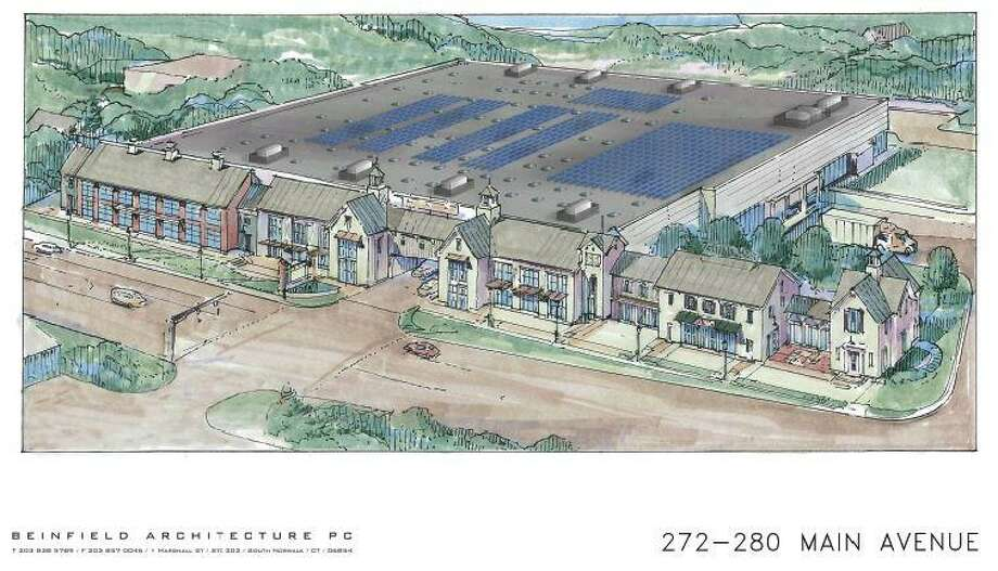 A proposed rendering of 272-280 Main Ave. in Norwalk. Photo: Contributed Rendering