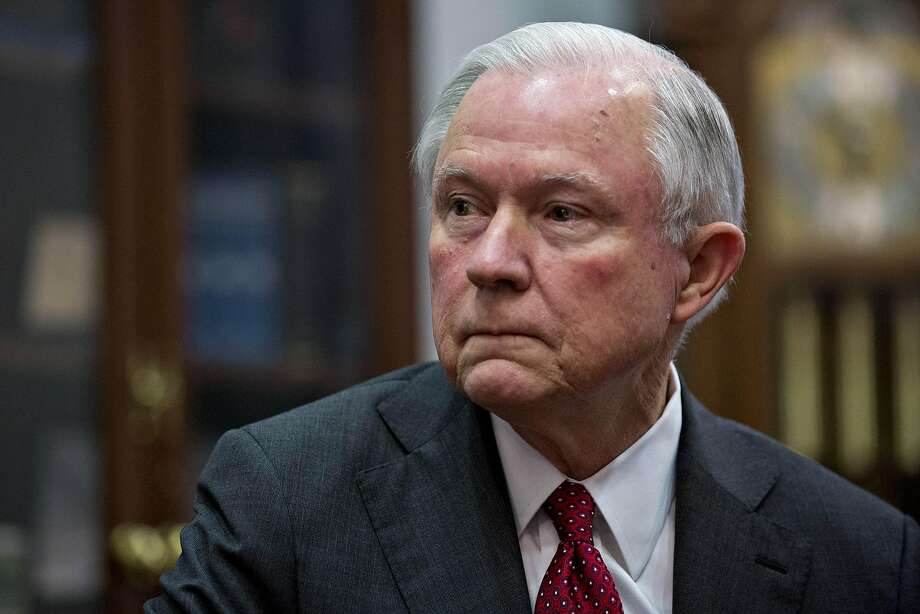 "Senator Jeff Sessions, attorney general pick for U.S. President-elect Donald Trump, listens as Senator Charles ""Chuck"" Grassley, a Republican from Iowa, not pictured, speaks during a meeting in Washington, D.C., U.S, on Tuesday, Nov. 29, 2016. Sessions, the 69-year-old, four-term Alabama Republican is a hard-liner on free trade and immigration, arguing that prospective immigrants dont have constitutional protections. Photographer: Andrew Harrer/Bloomberg Photo: Andrew Harrer, Bloomberg"