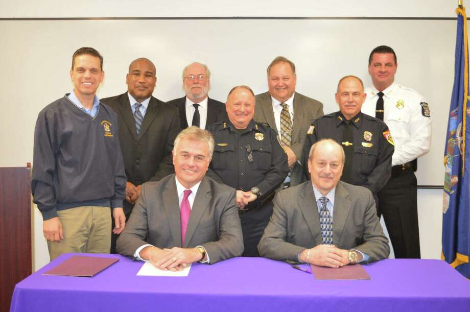 On Nov. 29 Excelsior College and Zone 5 Training Academy announced an  agreement giving more than 7,500 area law enforcement personnel and their spouses/domestic partners a chance to seek a higher education at Excelsior College at a substantially reduced rate. (Alicia Jacobs)