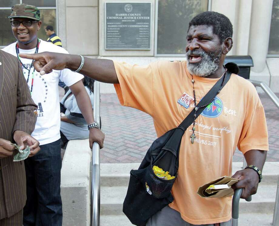 Rick Johnson, outside Harris County Criminal Courthouse in 2011. Photo: Melissa Phillip, Staff / © 2011 Houston Chronicle