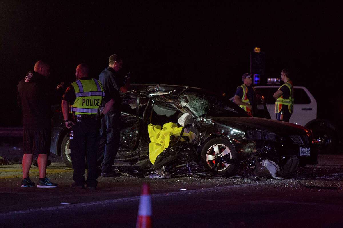 Car accident at Wetmore and Wurzbach Parkway, Tuesday, Nov. 29 2016.
