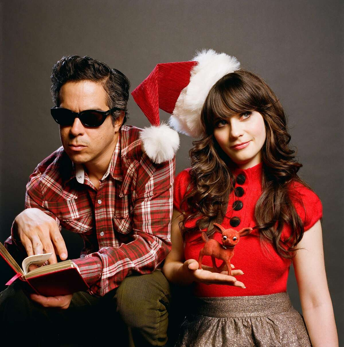 She and Him: M. Ward and Zooey Deschanel.