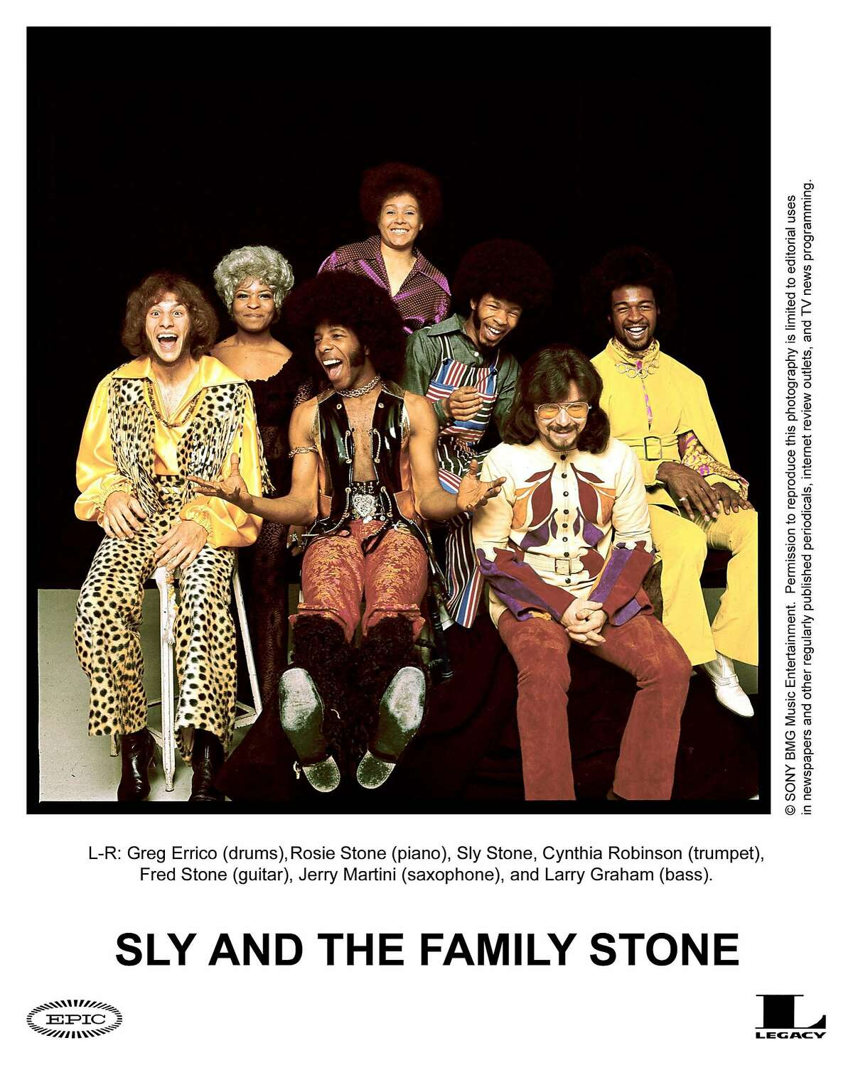 Sly and the Family Stone After moving to Vallejo from Dallas, the youngest four children of the religious Stewart family - Sylvester, Rose, Freddie, and Vaetta - started a Christian band called the Stewart Four. Sylvester, who'd go on to take the name Sly, and his brother Freddie joined bands in high school, and in 1964, Sly became a DJ in San Francisco for a R&B and rock station called KSOL. He was also a fairly successful record producer. By a couple years later, Sly was playing in bands around town and piloting one group, Sly & the Stoners, while Freddie was working with another, called Freddie and the Stone Souls. Soon, following the suggestion of a friend, the brothers joined their bands together in early 1967, creating a sort of supergroup. The first name, Sly Brothers and Sisters, didn't stick, so they changed it to Sly & the Family Stone after their first gig in Redwood City. The new band featured Sly, Cynthia Robinson (a holdover from Sly's previous band) on trumpet, guitarist Fred Stewart, bassist Larry Graham, saxophonist Jerry Martini, pianist Rosie Stone, and drummer Greg Errico. The racial makeup of the band made them a fresh departure from the other mostly-white rock bands of the '60s, although their first album,