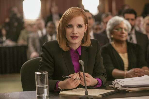 """Jessica Chastain plays the title character, a lobbyist, in """"Miss Sloane."""""""