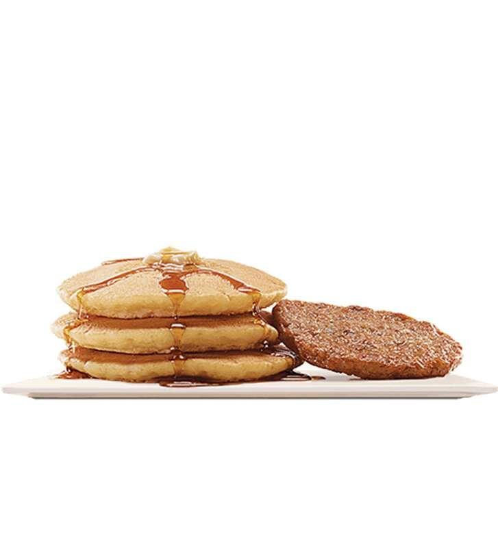 "Burger King's Large Pancakes are enhanced with a ""hint of vanilla."""