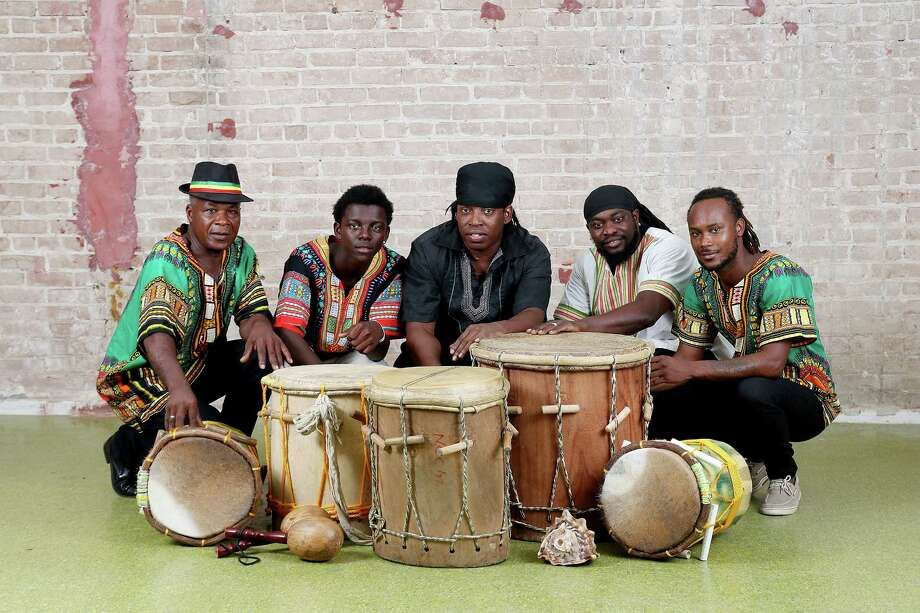 Walagante Garifuna is a Houston-based ensemble of Garifuna musicians. Photo: Pin Lim / Copyright Forest Photography, 2016.