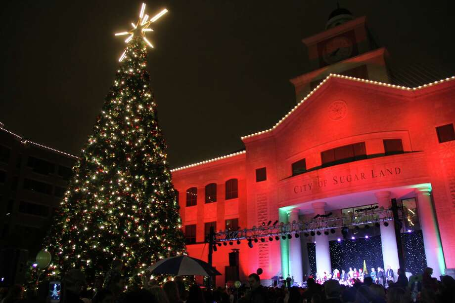 Sugar Land Town Square's annual Christmas tree-lighting event is 5-8 p.m. Thursday. The Holiday in the Plaza celebration continues into the weekend at Sugar Land Town Square. Photo: City Of Sugar Land